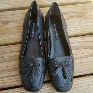 ENZO ANGIOLINI Black Ealizzia Slip On Flats 7.5